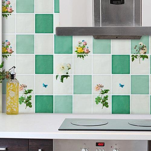 防油煙廚房磁磚壁貼(1張)