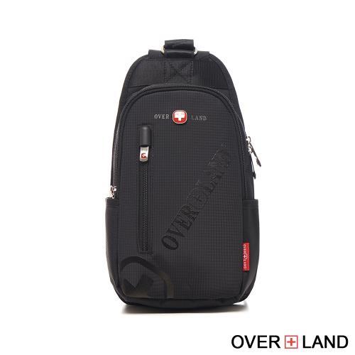 OVERLAND-美式十字軍-品牌LOGO浮印隨行胸肩包-3129/