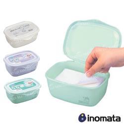 INOMATA 日本製 多用途收納盒(綠/白/紫 顏色隨機) IN-2710