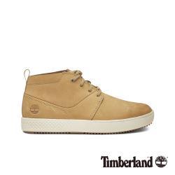 Timberland男款米色正絨面皮革中筒休閒鞋A1XH2K38