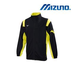 MIZUNO 美津濃 男針織運動外套 黑x螢光黃 32TC903309