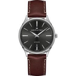 Hamilton 漢米爾頓 JAZZMASTER 美國經典爵士機械錶-灰x咖啡/40mm H38525881