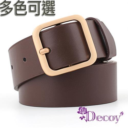 【Decoy】方金扣頭*中性簡約時尚皮帶/3色可選