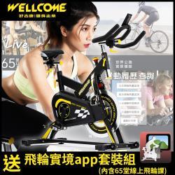 WELLCOME好吉康 M8 台灣製旗艦級 合金磁控飛輪健身車