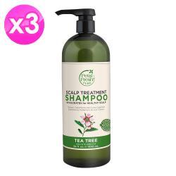 美國沛特斯有機成份茶樹控油洗髮精(1000ml/34oz) 2入組