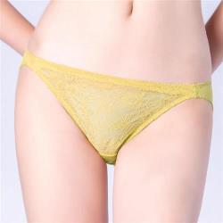 思薇爾 輕戀香系列M-XL蕾絲低腰三角內褲(楊桃綠)
