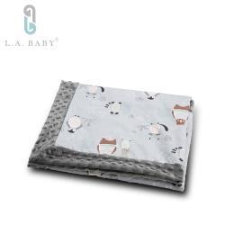 【美國 L.A. Baby】高級保暖樂豆毯 (輕柔) - 110 x 140 (cm)  9款