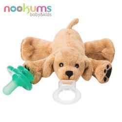 【美國nookums】寶寶可愛造型安撫奶嘴/玩偶-可愛小狗狗