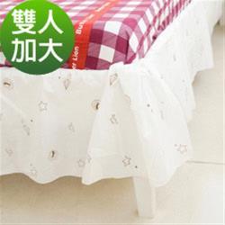 奶油獅-星空飛行-美國防瞞抗菌表布床裙.夏罩-雙人加大6尺