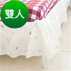 奶油獅-星空飛行-美國防瞞抗菌表布床裙.夏罩-雙人5尺
