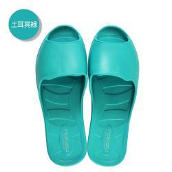 (MONZU)零著感一體成型防滑魚口室內外拖鞋-土耳其綠