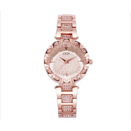 【Sara】簡約時尚鑲水鑽鋼帶女腕錶/