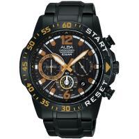 ALBA 熱血青春三眼計時腕錶(黑/ 44mm) VD53-X239SD@AT3965X1