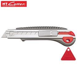 日本製NT Cutter L型美工刀L-2000RP(6連發/可存六片刀片;自動卡榫固定鈕;鋁合金壓鑄鋸齒狀刀身+丙烯酸塗料)