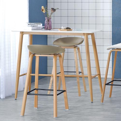 Boden-拉斯4尺雙色吧台桌/洽談桌/休閒桌