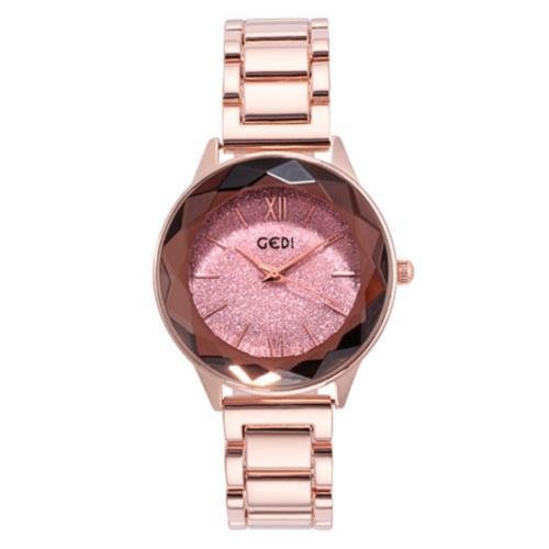【Sara】奢華星空晶鑽品味鋼帶女錶