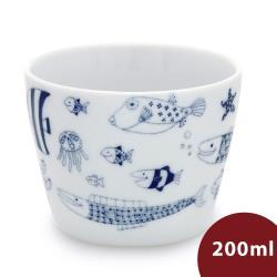 Natural69 波佐見燒 CocoMarine系列 日式茶杯 200ml 熱帶魚群 日本製
