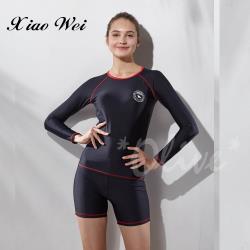 沙麗品牌 時尚流行二件式長袖泳裝 NO.19119