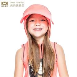 【HOII后益】HOII后益 兒童伸縮豔陽帽 ★紅光(UPF50+抗UV防曬涼感先進光學機能布)