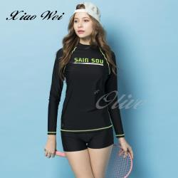 聖手品牌 時尚流行二件式長袖泳裝 NO.A928828
