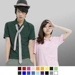 男人幫-F0176*領子加厚 不變型 情侶可穿 混搭短袖素面POLO衫