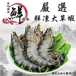 海肉管家-嚴選鮮凍大草蝦1盒(每盒12-14隻/淨重約280g±10%)