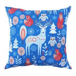 Sonnig北歐風抱枕(43x43cm)(藍色鹿)