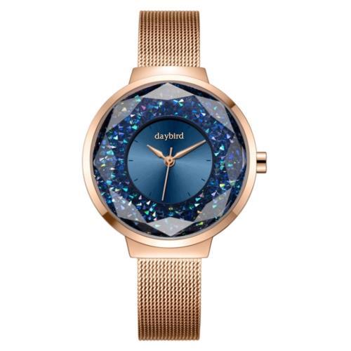【SARA】時尚璀璨星空水鑽石英女錶/
