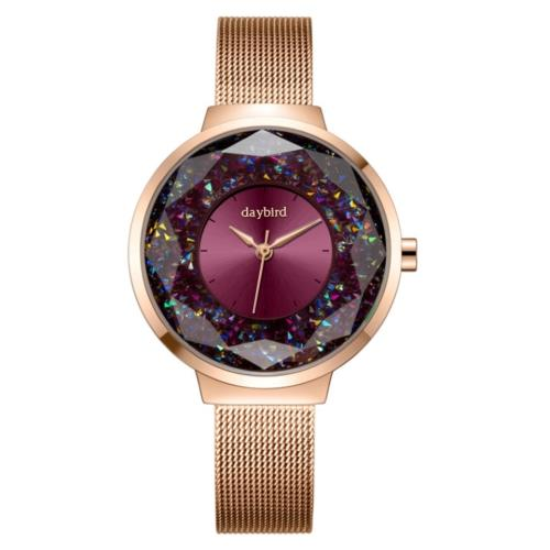 【SARA】時尚璀璨星空水鑽石英女錶