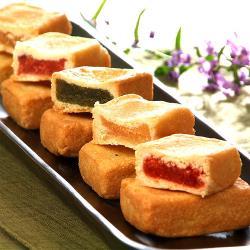 美雅宜蘭餅 特色茶點-綜合3口味(金棗酥x1、綜合酥x1、鳳梨酥x1)