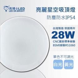 亮博士LED亮麗星空28W吸頂燈適用坪數2-3坪單色無調光(白光/黃光/自然光)