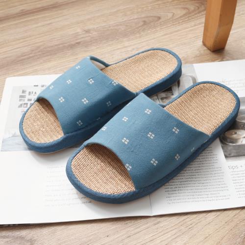 日式亞麻情侶居家拖鞋 足弓設計 室內拖鞋(4色)