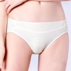 思薇爾 小綿羊系列M-XXL印花中腰三角內褲(淺黃色)