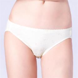 思薇爾 小綿羊系列M-XL印花低腰三角內褲(淺黃色)