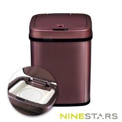 美國NINESTARS感應式尿布防臭垃圾筒NPT-12-5酒紅金