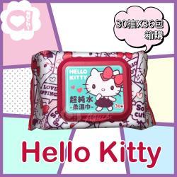 Hello Kitty 凱蒂貓 超純水有蓋濕紙巾30抽x36包