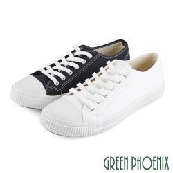 GREEN PHOENIX 簡約素面綁帶帆布平底休閒鞋(男鞋)N-18085