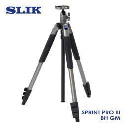 日本 SLIK Sprint Pro III BH GM 附 SBH-100DQ 球型雲台 鐵灰