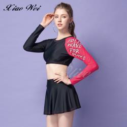 聖手品牌 時尚流行二件式短背心長袖泳裝 NO.A929078