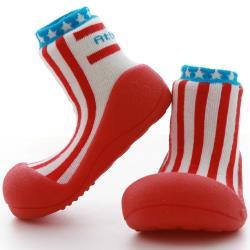 韓國Attipas快樂學步鞋-紅白條紋