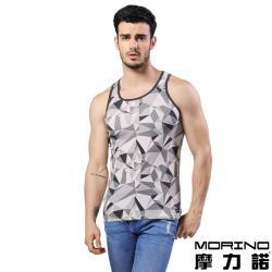 男內衣 設計師聯名-幾何迷彩時尚運動背心 灰色 MORINOxLUCAS