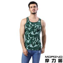 男內衣 設計師聯名-幾何迷彩時尚運動背心 綠色 MORINOxLUCAS
