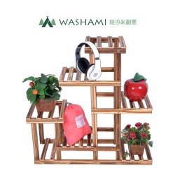 WASHAMl-松木復古中型花架-置物架