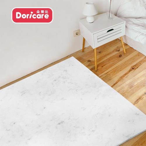 【Doricare朵樂比】超Q彈抗菌遊戲地墊120x180cm-歐風白大理石-可裁切/