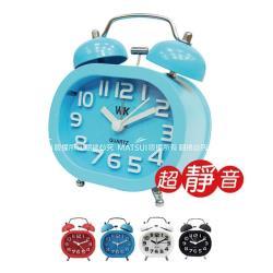 無敵王 雙鈴 立體數字鬧鐘(紅/藍/白/黑) WK-1308A