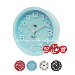 無敵王 中圓形 立體數字鬧鐘(紅/藍/白/黑) WK-1305A