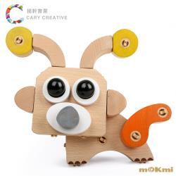 【 mOKmi x umu 】 木可米 - 360°扣木製積木 可愛動物組 ( 36PCS )