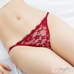 【mystic神秘者】蕾絲透膚低腰細帶可調節三角內褲(共5色)