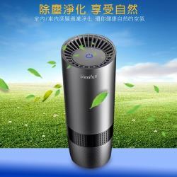 blessfun 便攜款高效能空氣清淨器(USB供電,適用車內/室內) AC02尊榮灰
