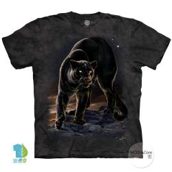 摩達客(預購)(4XL-5XL)美國進口The Mountain黑豹像 純棉環保藝術中性短袖T恤